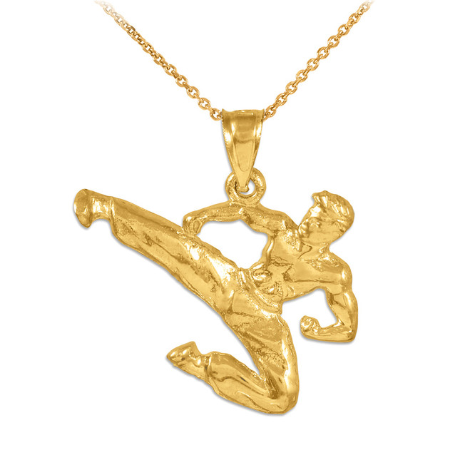 Karate Gold Sports Pendant Necklace