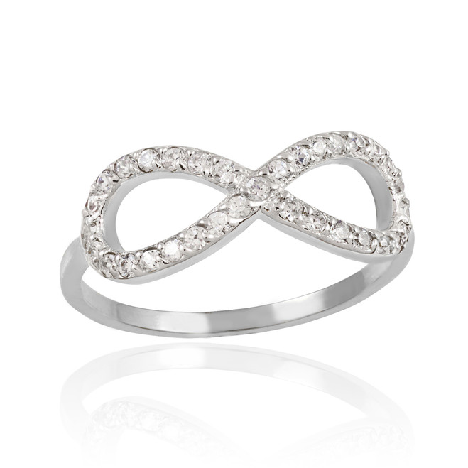 Sterling Silver CZ Infinity Ring