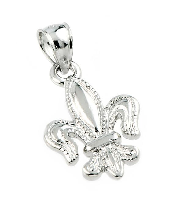 925 Sterling Silver Fleur-de-Lis Pendant