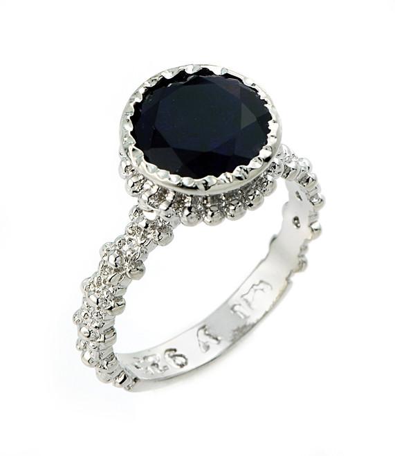 Sterling Silver Black Onyx Gemstone Ring