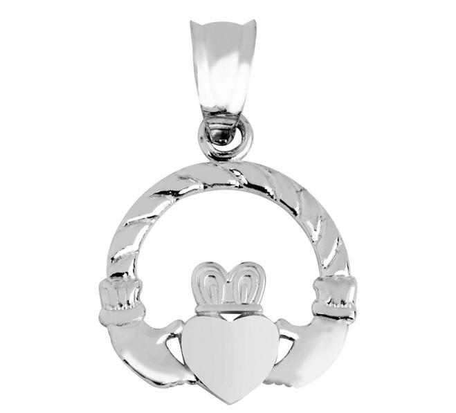 Silver Irish Claddagh Pendant