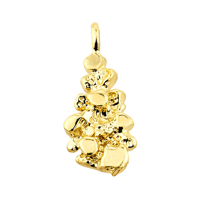 Solid Yellow Gold Nugget Pendant