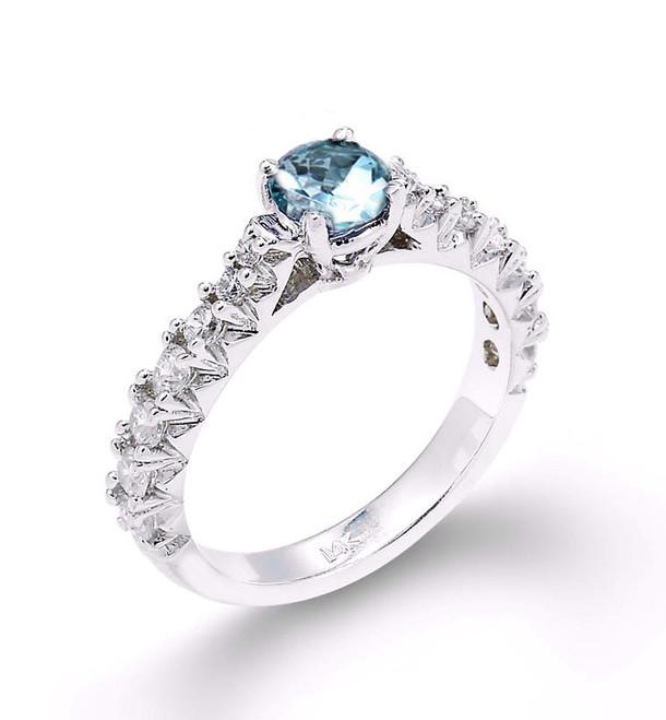 d5062e418ae 14k White Gold Aquamarine Engagement Ring