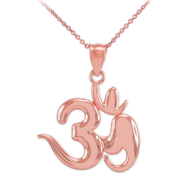 Rose Gold Om Symbol Pendant Necklace