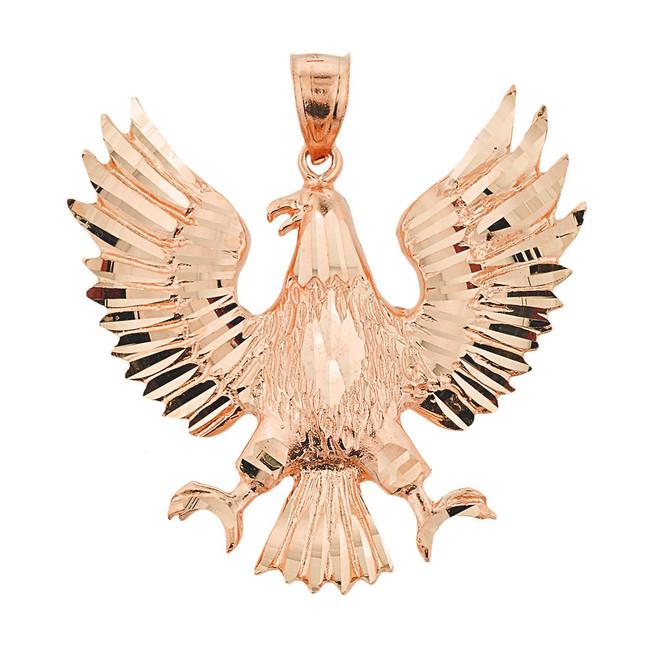 Rose Gold Polish Eagle Pendant