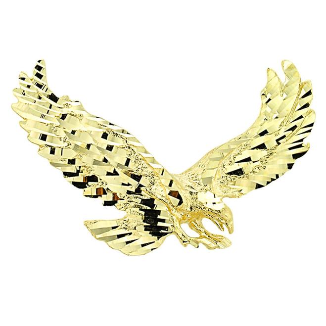 Gold Soaring Eagle Pendant
