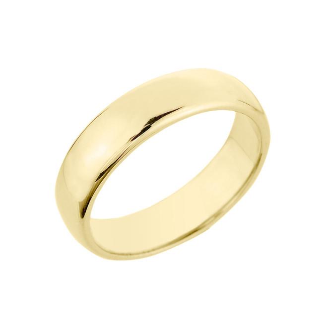 Yellow Gold Classic Wedding Band - 5MM