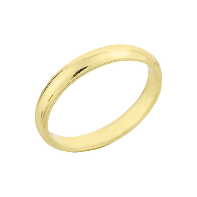 Yellow Gold Classic Wedding Band 3MM