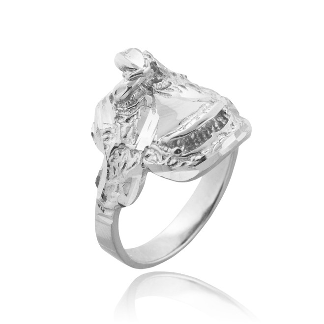 Sterling Silver Horse Saddle Ring