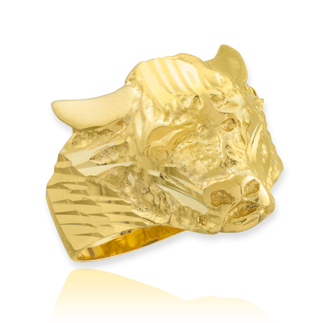 Gold Bull Taurus Ring
