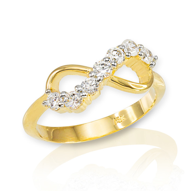 Gold Infinity CZ Ring