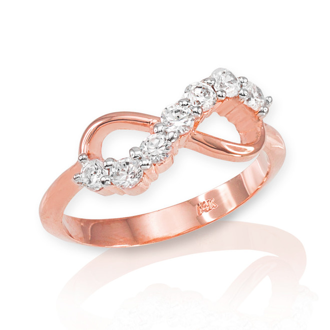 Rose Gold Infinity CZ Ring
