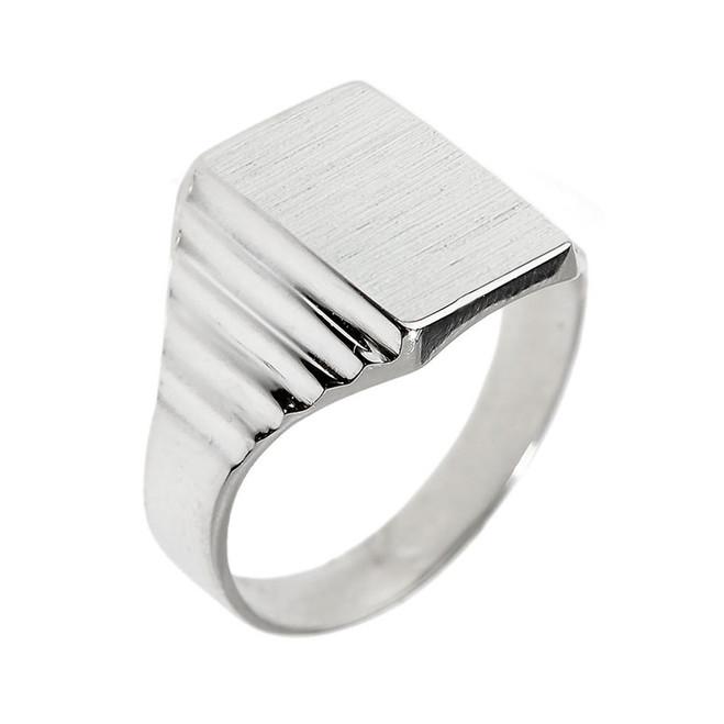 Sterling Silver Engravable  Men's Signet Ring