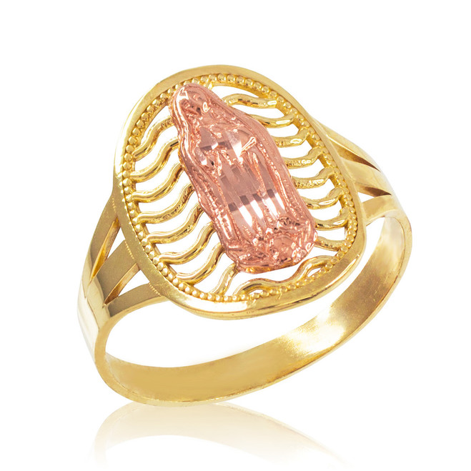 Two-Tone Gold Guadalupe Filigree Ring