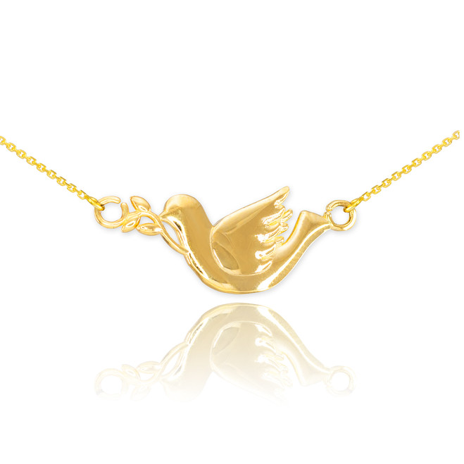 14K Gold Dove Necklace