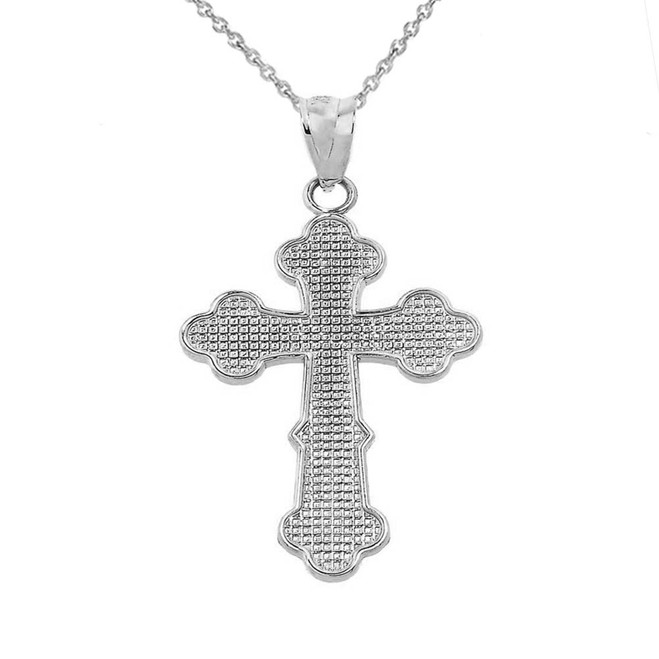Sterling Silver Orthodox Cross Charm Pendant