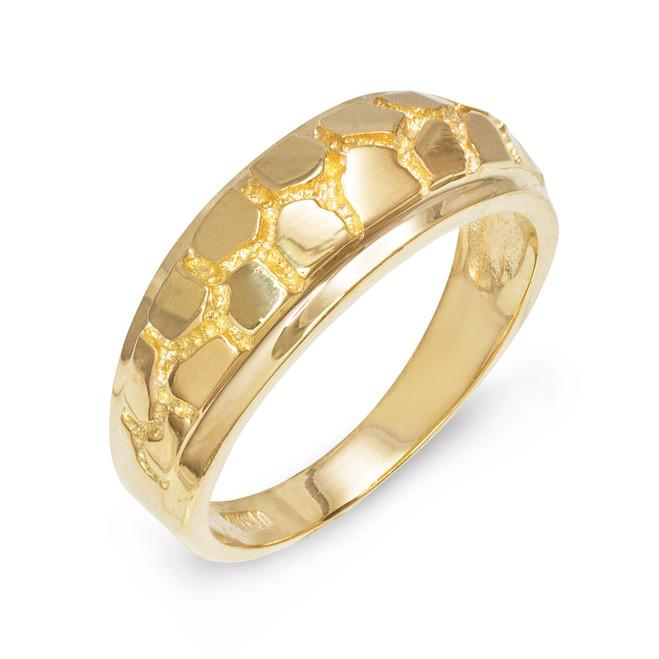 Gold Nugget Wedding Band