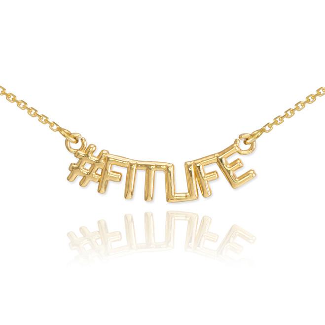 14k Gold #FITLIFE Necklace