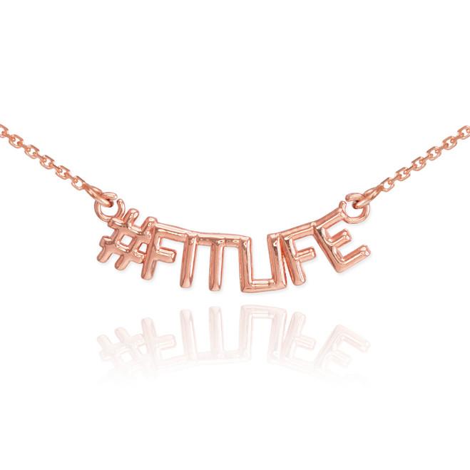 14k Rose Gold #FITLIFE Necklace