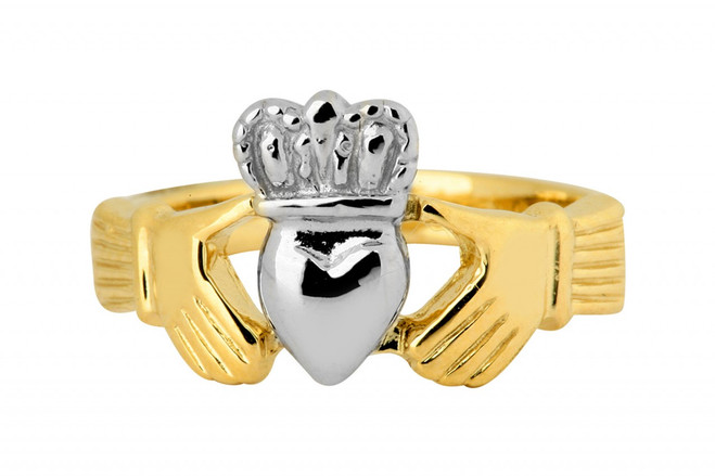 Two-Tone ladies Claddagh Ring Classic