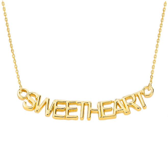 """14K Yellow Gold  """"SWEETHEART"""" Pendant Necklace"""