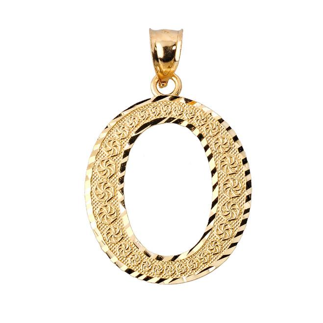 Initial O Gold Charm Pendant