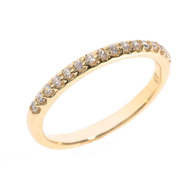Yellow Gold Diamond Stackable Wedding Band