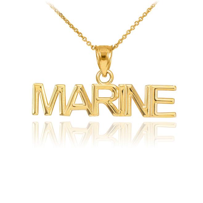 Gold MARINE Pendant Necklace