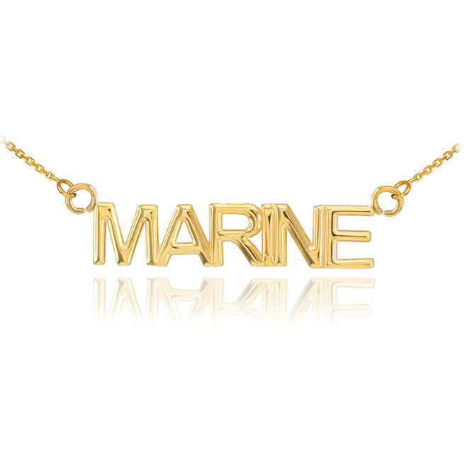 14K Gold MARINE Necklace