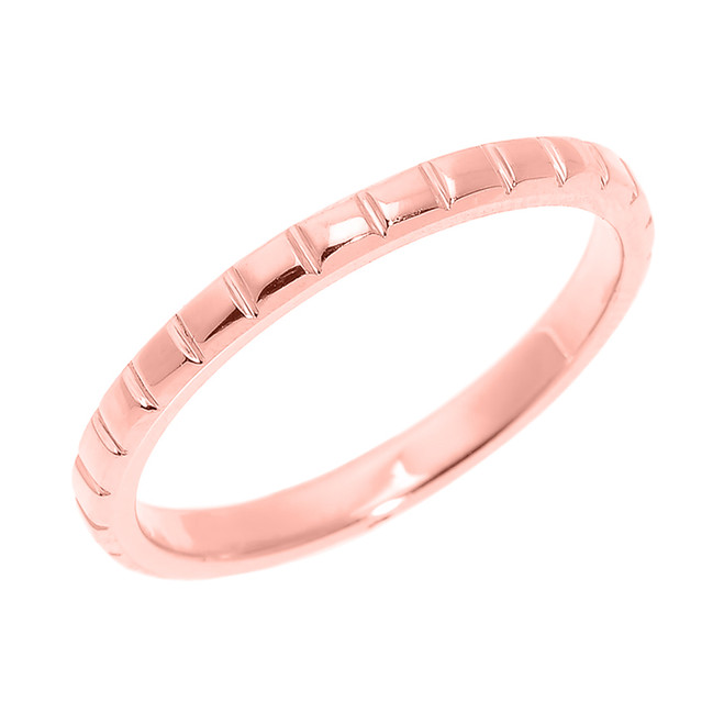 Rose Gold Textured Thumb Ring