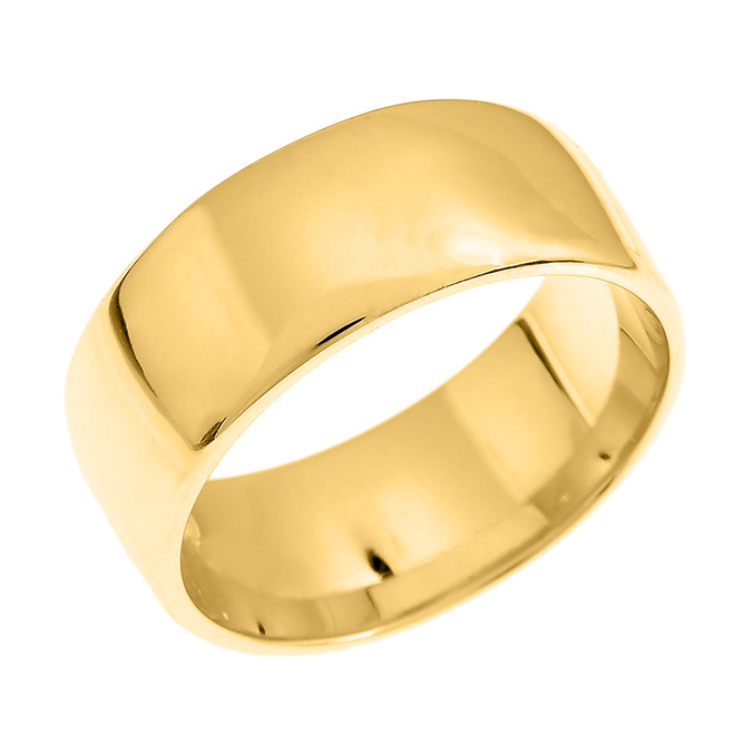 Yellow Gold 8.0 mm Comfort Fit Classic Wedding Band