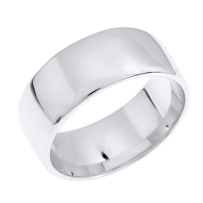 Sterling Silver 8.0 mm Classic Thumb Ring