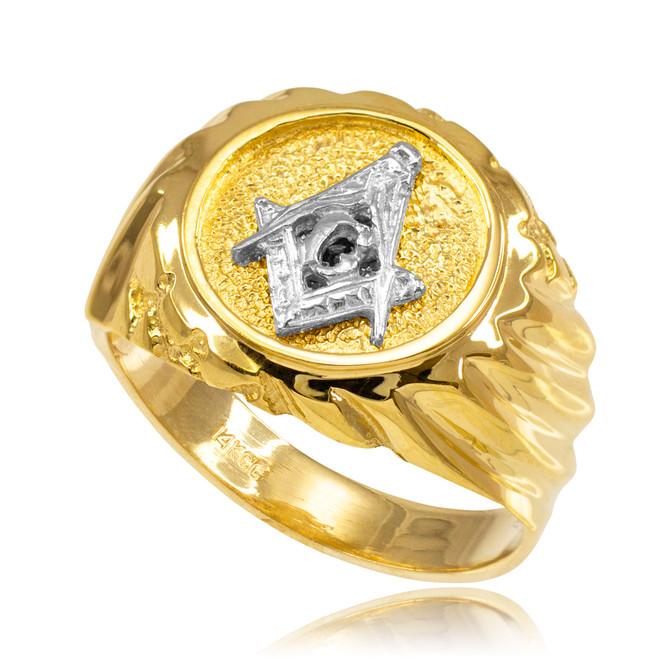 Gold Masonic Men's Ring