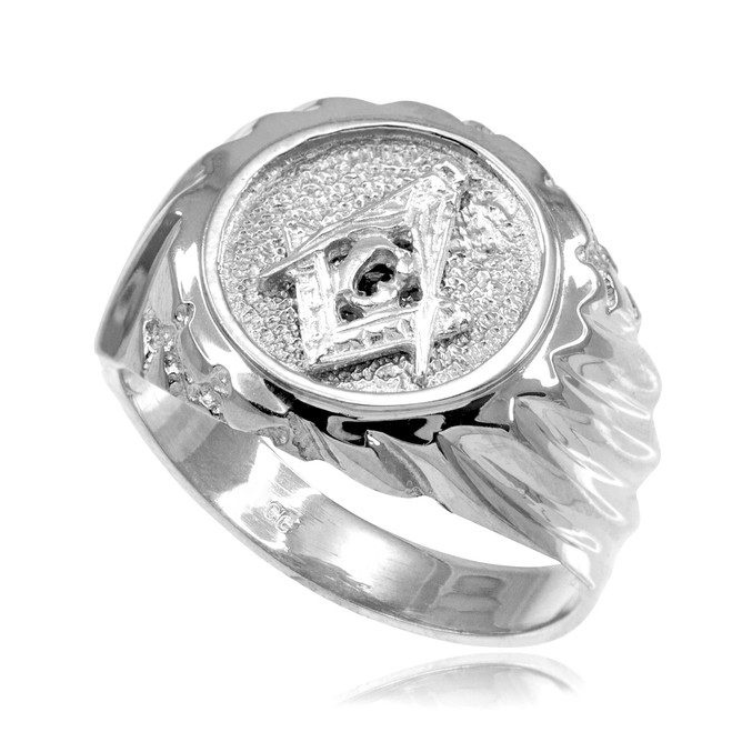 Silver Masonic Men's Ring