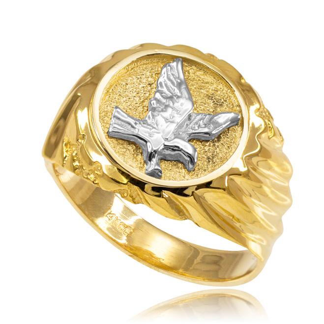 Gold American Eagle Men's Ring