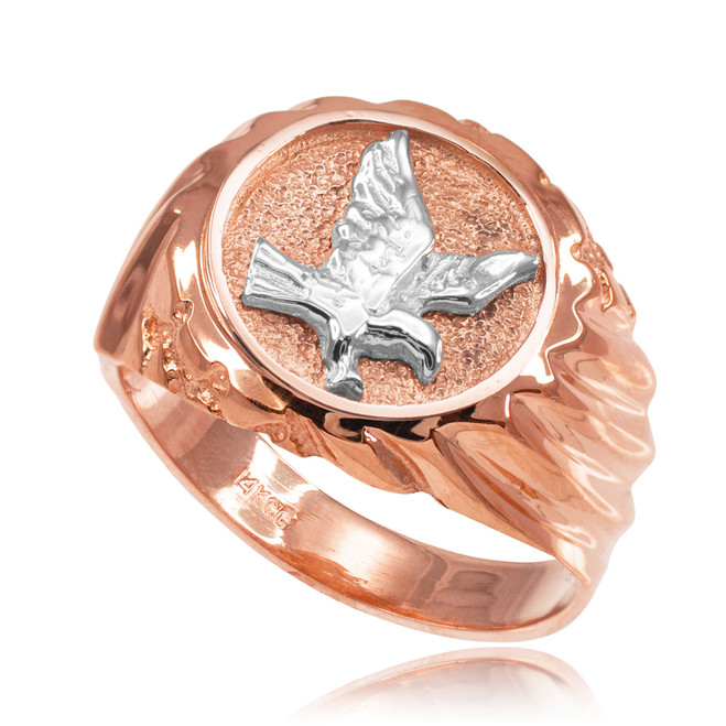 Rose Gold American Eagle Men's Ring