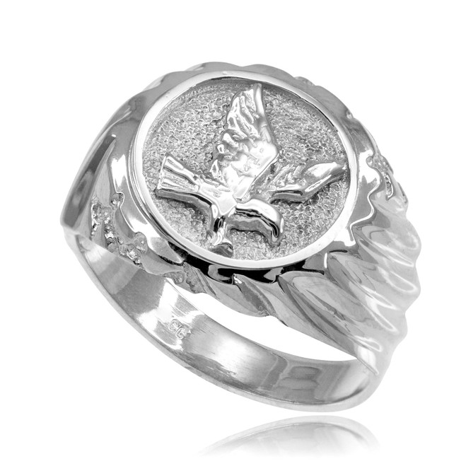 Silver American Eagle Men's Ring
