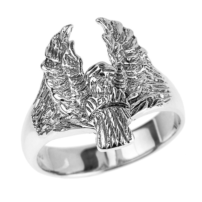 Sterling Silver Eagle Men's Ring