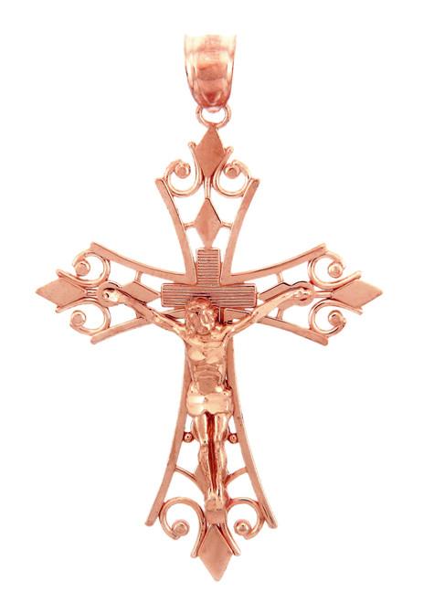 Rose Gold Crucifix Pendant - The Agape Crucifix
