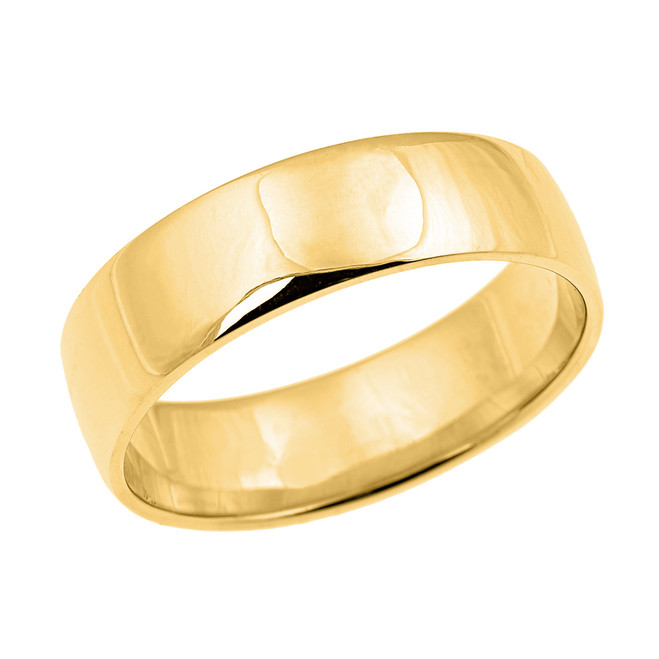 Yellow Gold Comfort Fit Classic Wedding Band - 7 MM