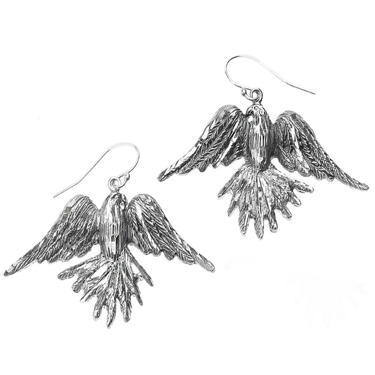 Sterling Silver Soaring American Eagle Earrings