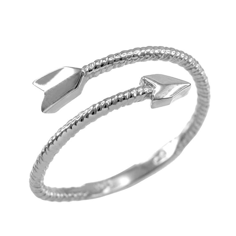 Sterling Silver Arrow Wrap Ring for Women