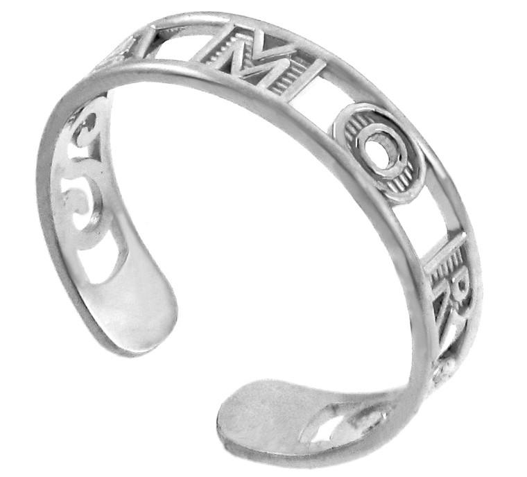 AMOR White Gold Toe Ring
