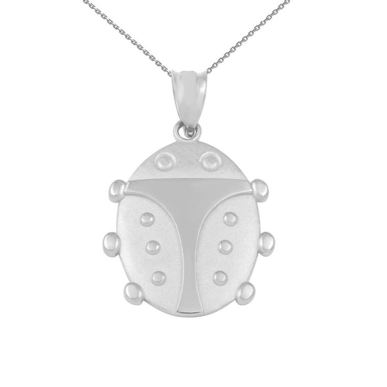 Sterling Silver Lucky Ladybug Pendant Necklace