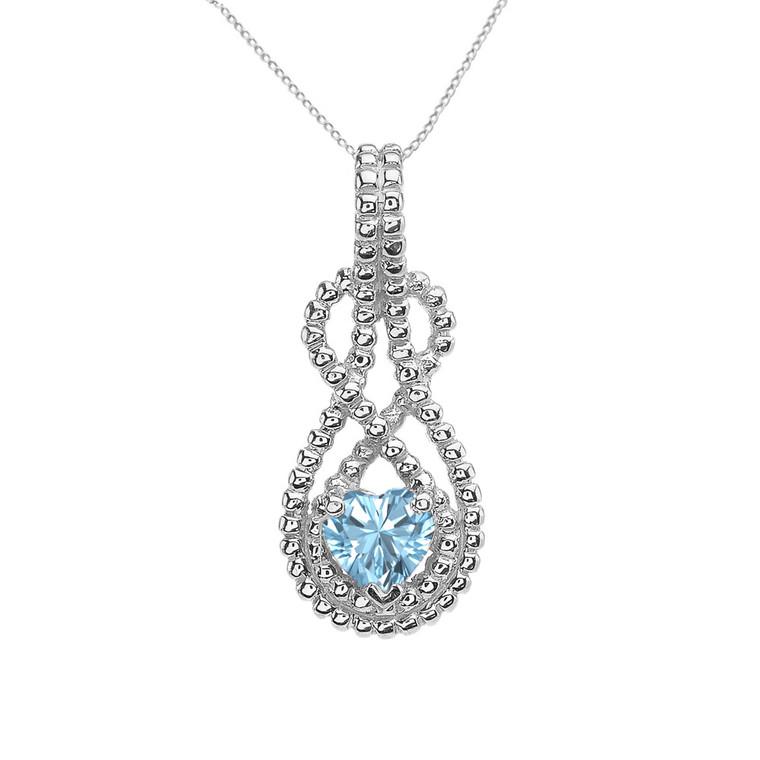 Sterling Silver Heart Shaped (LCQ) Double Infinity Hidden Bail Pendant