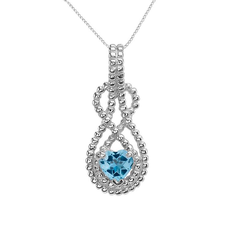 Sterling Silver Heart Shaped (LCBT) Double Infinity Hidden Bail Pendant
