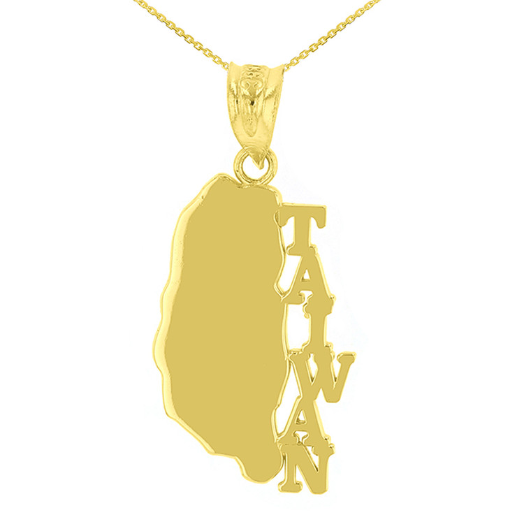Yellow Gold Taiwan Country Pendant Necklace
