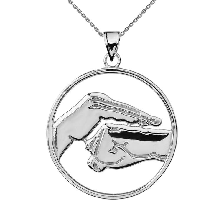 Sterling Silver Bao Quan Martial Arts Hand Symbol Pendant
