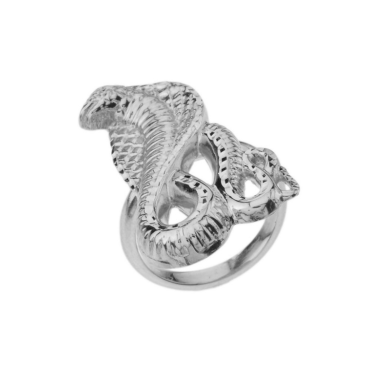 Snake Statement Ring in Sterling Silver