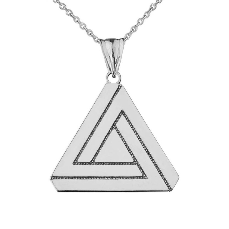 The Impossible (Penrose) Triangle Pendant Necklace in Sterling Silver
